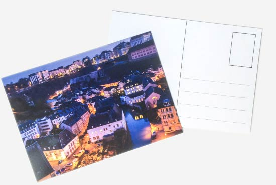 postcard luxembourg