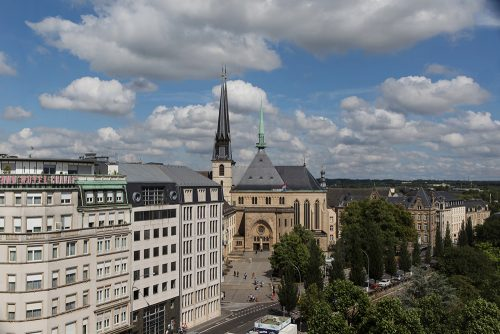luxembourg from city skyliner