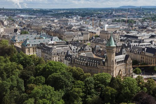 luxembourg aerial from city skyliner