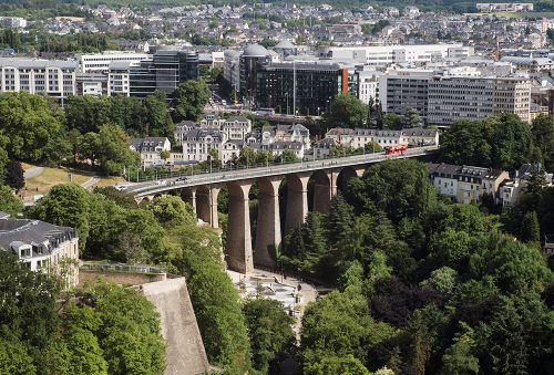Luxembourg aerial view from City Skyliner