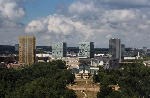 Luxembourg city from above