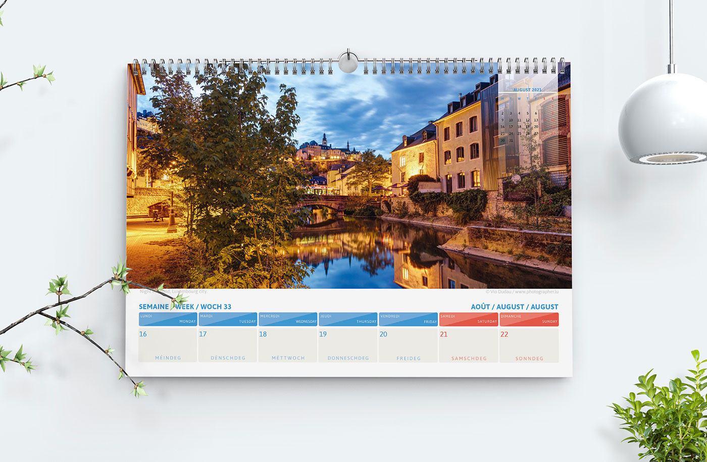 Luxembourg calendrier 2021