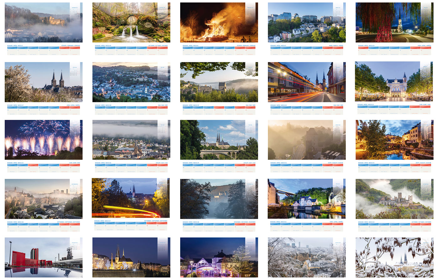 luxembourg calendar 2021 pages