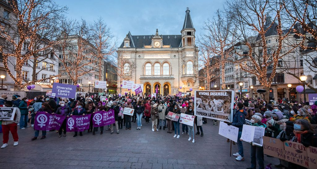 Greve des femmes in Luxembourg